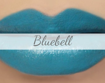 "Blue Lipstick Sample - ""Bluebell"" (bright blue lipstick) natural lip tint"