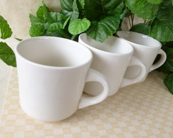 Vintage 50's Restaurant Coffee Cups Made in Brazil, tea cup or mug Set of 3