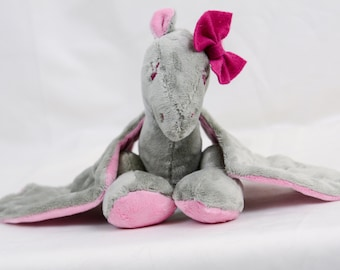 Grey and Pink Dragon