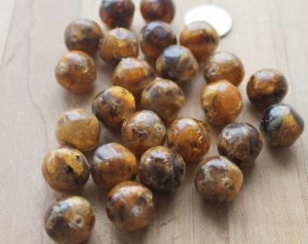 25 rusty resin beads,rusty beads, resin beads,25 rresin beads, 25 rusty beads, jewelry project,