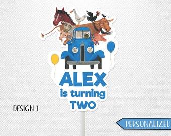 Little Blue Truck birthday sign, Little Blue Truck sign, Little Blue Truck centerpiece. Personalized!