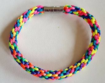 Rainbow Kumihimo Braided Bracelet
