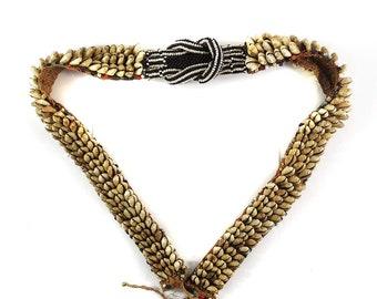 Kuba Leather Belt with Cowry Shells Congo African Art 120442
