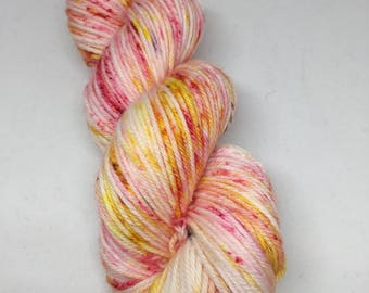 SALE PRICE Flamingo road 2 hand dyed yarn for the Splashpad party worsted weight, hand dyed worsted weight yarn