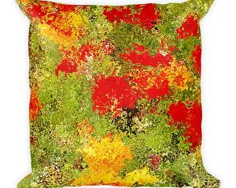 Ranunculas Flowers Square Pillow
