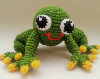 Frog amigurumi - knitted toys