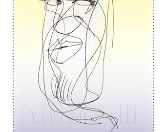 """Sexy Genie - a """"scribble"""" blank or romantic card"""