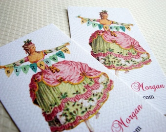 Personalized Vintage Business Cards, Custom Business Card - Set of 50