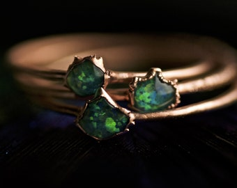 READY TO SHIP. Green Opal Ring. Opal Ring. Copper Green Opal Ring. Tiny Opal Ring. Tiny Green Opal Ring. Electroformed Green Opal Ring.