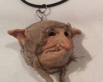 Handmade sculpture fairie,elf, necklace,mascot,car,ornamental,hanging,children's,keyring,head