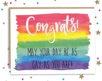 Gay Wedding Card, Card for Brides, Card for Grooms, Funny Gay Wedding, Wedding Card, Engagement Card, Funny Wedding Card, Wedding Party