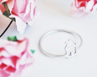 home ring- sterling silver-FREE SHIPPING