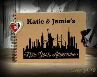Personalised New York Scrapbook, Travel Photo Album, New York, USA, Scrapbook, Emigrating/Leaving Present, Honeymoon/Birthday Gift Idea