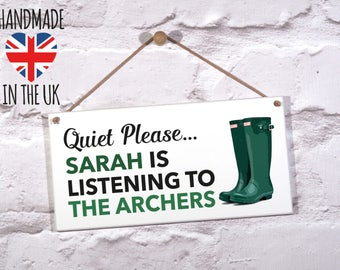 The Archers. Personalised The Archers Gift. Archers Sign. Personalised Archers Sign. Archers Radio Sign. Mothers Day Gift. Fathers Day Gift