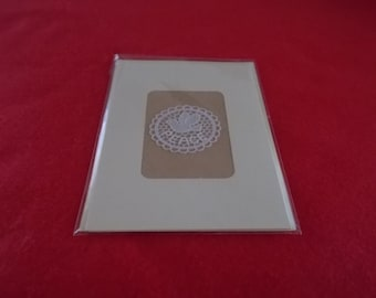This card has a Belgian Lace Dove of Peace