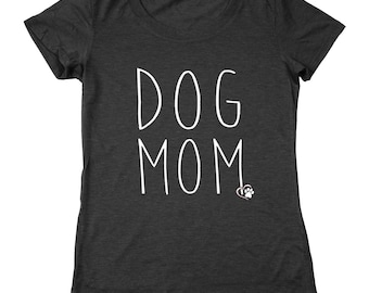 Dog Mom Cute Funny Humor Outfit Top Women's Relaxed Fit Tri-Blend T-Shirt DT2255