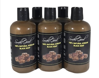 SmellGood - 8oz Scented Liquid African Black Soap, Pack of 35