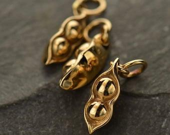 Peapod Two peas in a pod Bronze 2 Peas in a Pod pea pod Charm Pendant for Necklace Family Friends B1055