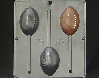 Football Lollipop Chocolate Candy Mold 213
