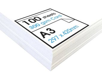 Artway Studio A3 White Card - 100 x 300gsm Sheets - Ideal for Presentation Display and Mounting