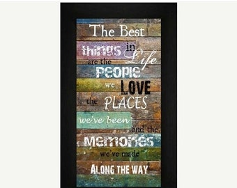 Sale The Best Things In Life Blocking Framed Picture