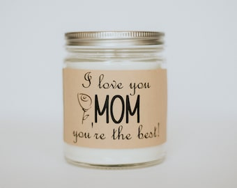 Mothers Day Personalized Mothers Day Soy Candle Gift for Mom Birthday Candle Handmade Soy Candles