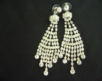 Elegant Chandelier Rhinestones Earrings