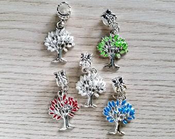 1 Enamel Tree of Life Dangle Charm Jewelry Supplies ETOLDC33MM-1WD1