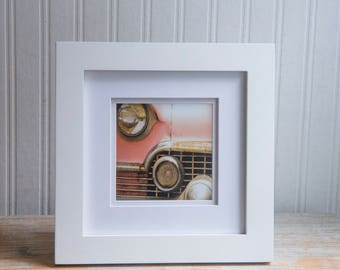 Framed Photo Print, Pink Cadillac Abstract Photograph, Desk Size Office Art