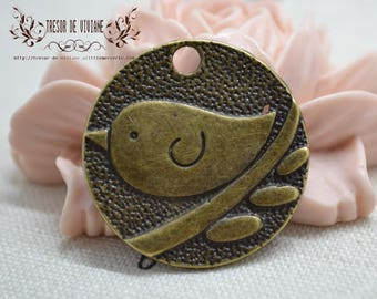 QDW018, bird pendant, cute, manual, jewelry, charms