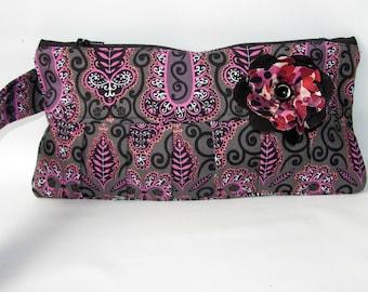 Wristlet Wallet, Wristlet Pouch, Zipped Purse, Cellphone Wristlet, Clutch, Zipper Pouch, Evening Clutch, iPhone Wallet, Clutch Bag