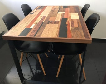 Dining Room/Kitchen Table.Wooden Table. Scrap wood table.