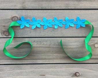 Princess Poppy Headband - trolls - floral - flower tieback- flowers -