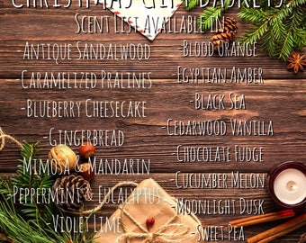 Custom Gift Baskets! Scent List!