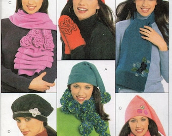 McCall's Fashion Accessories Pattern 5773 Misses HATS SCARVES & MITTENS