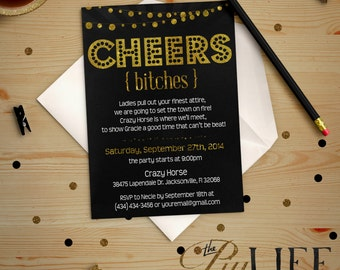 Gold Foil Cheers Bitches Printable DIY No. I23