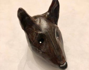 Mini Marble Friend Brindle Dog German Shepherd in Black Golden Brown Gray Swirl Chinese New Year of the Dog