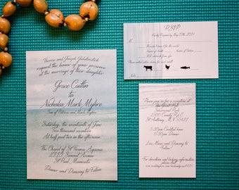 Water Color Wedding Invitation