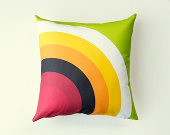 Target Pillow,  SALE, bull's eye, graphic pillow, target cushion, red, orange, yellow, green