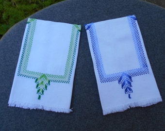 Pair of Embroidered Hand Towels
