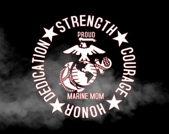 Proud Marine Mom decal, proud Marine Dad decal, Proud Marine family decal, marine car decal, marine truck decal, yeti  decal, laptop decal