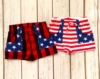 4th of July Sibling Outfits, Matching Brother Sister Outfits, Patriotic Twin Outfits, Big Brother Little Sister Outfits, Memorial Day Shorts