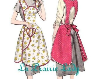 Repro Vintage Full Apron 50's PDF Pattern No 33 Available in M-L-XL