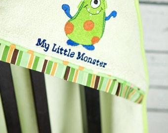 little monster hooded towel infant toddler towel personalized shower gift