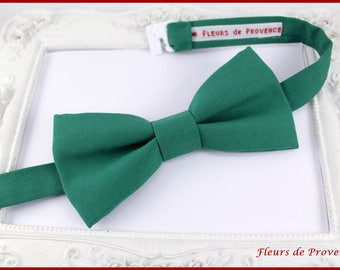 Bow tie elegant emerald green - man / baby / children
