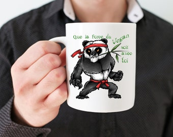 Gift for Vegan mug: Yoda Vegan Panda