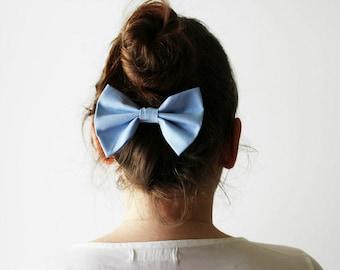 Blue cheerleader's bow, Blue hair bow, Light blue hair barrette, Cute blue hairbow, Blue bow hair clip, Blue bow hair clip, Girl's hairbow