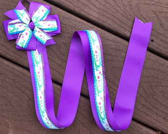 Mermaid hair bow holder I'd rather be a mermaid hair bow holder hair clip holder