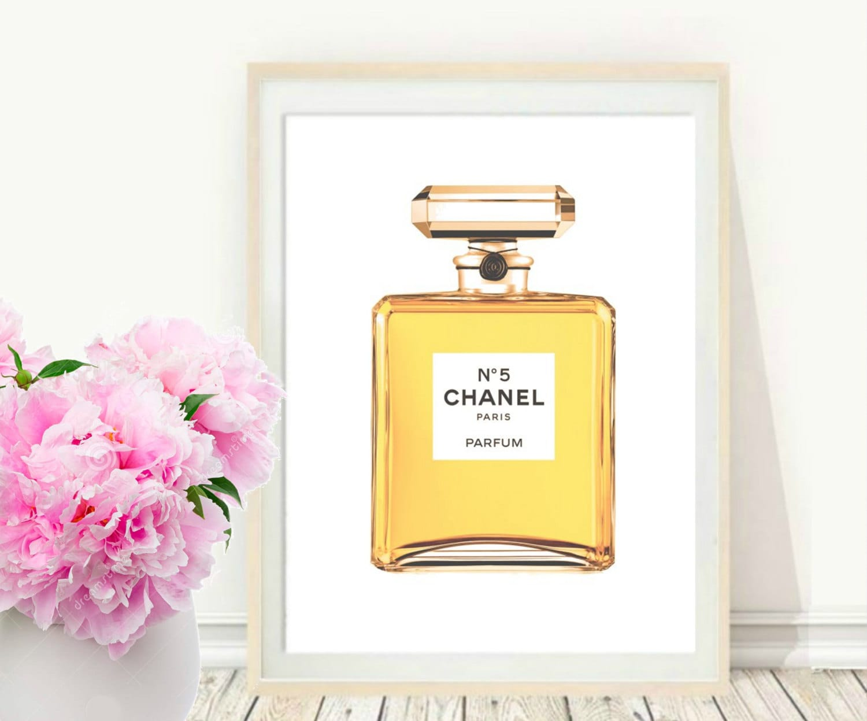 Chanel Wall Art Coco Chanel perfume Printable Art Perfume