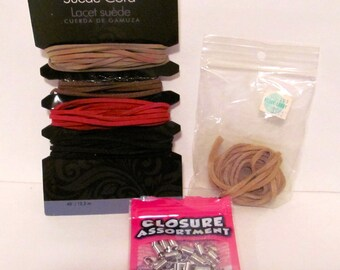 Suede Cord and Closure Assortment